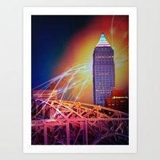 Moonbeams Over The Bridge Art Print