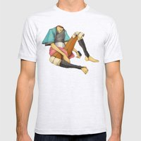 When I Was Little, My Father Was Famous. (No type) Mens Fitted Tee Ash Grey SMALL