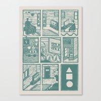 Squential Print Canvas Print