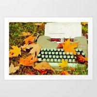 It Was A Gorgeous Autumn… Art Print