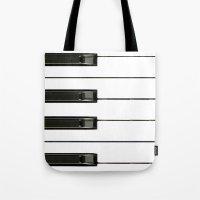 Piano Keys Tote Bag
