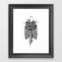 New life (b&w) Framed Art Print