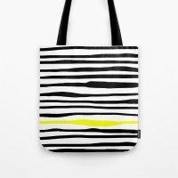 Neon zebra stripes Tote Bag