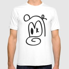 Monkey Mens Fitted Tee White SMALL