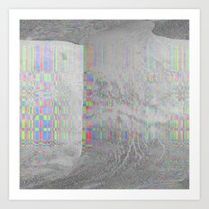 04-24-14 (Pink Cloud Bitmap Glitch) Art Print