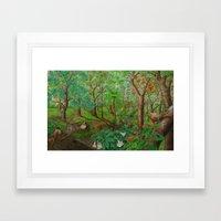 Beautiful forest Framed Art Print