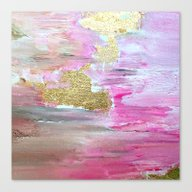 Canvas Print featuring Pink Pastel by Haroulita
