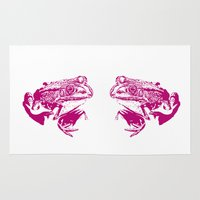 pink frog IV Rug