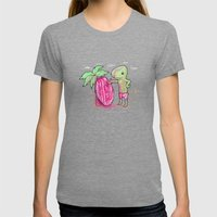 New shell Womens Fitted Tee Tri-Grey SMALL