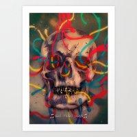 '' sad music plays '' Art Print