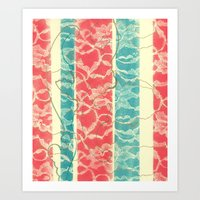 Lace Columns Art Print