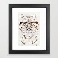 The Hipster Tiger Framed Art Print