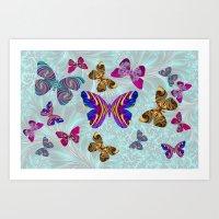 Fractal Butterfly Paradi… Art Print