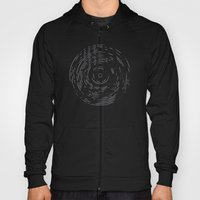 Record Black and White Hoody