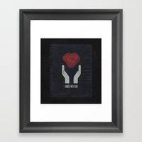 PAPER HEART Framed Art Print
