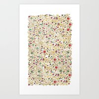Thursday Roses Page Temp… Art Print