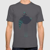 Melancholic Bird Mens Fitted Tee Asphalt SMALL