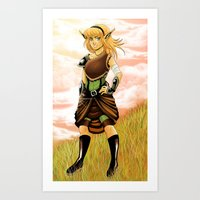 Warrior on the Hill Art Print