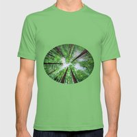 Reaching For The Sky - Mens Fitted Tee Grass SMALL