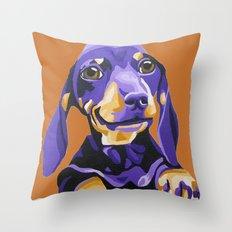 Cute Dachshund Portrait  Throw Pillow