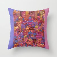 Tuna Plaza Throw Pillow