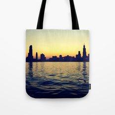 Chicago Skyline Tote Bag
