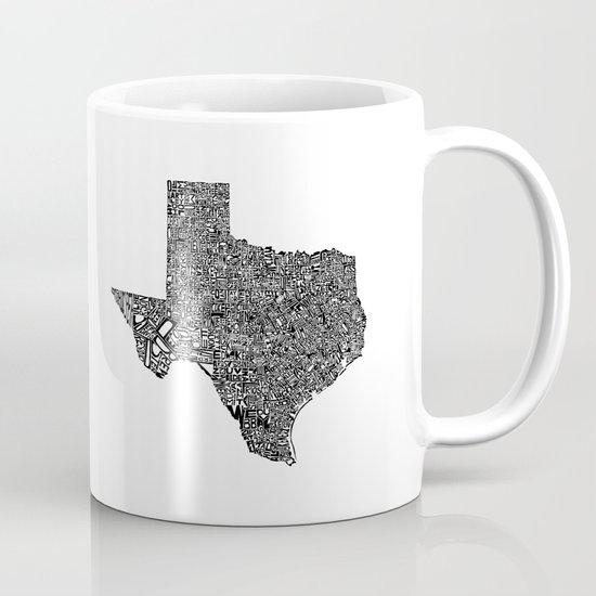 Typographic Texas Mug