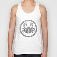 Zodiac Sign Cancer Unisex Tank Top