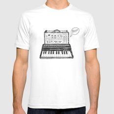 Keyboard.  SMALL White Mens Fitted Tee
