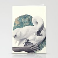 Hand Swan Stationery Cards