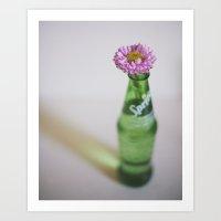 Pink Flower In A Sprite … Art Print