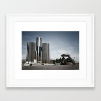 Detroit's Hart Plaza Framed Art Print