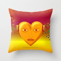FOR THE LOVE OF MUSIC 038 Throw Pillow