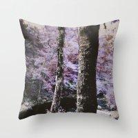 Violet Autumn  Throw Pillow