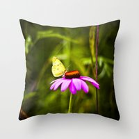 Purple cone Throw Pillow