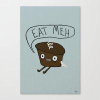 Eat Me Cupcake Canvas Print