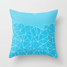 Ab Lines 45 Electric Throw Pillow