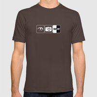 I Photograph Black and White Mens Fitted Tee Brown SMALL