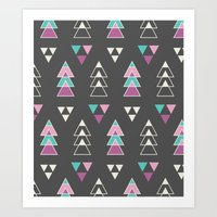 Mystic Triangles Art Print