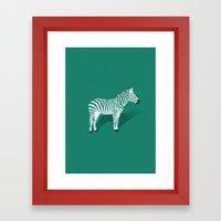 Animal Kingdom: Zebra II… Framed Art Print