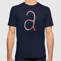 A Is For... Mens Fitted Tee Navy SMALL