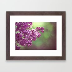 Lilac happiness Framed Art Print