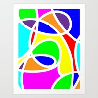 Loops Color Art Print