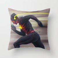 Reverse Flash Throw Pillow