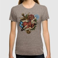 All of Time and Space Womens Fitted Tee Tri-Coffee SMALL