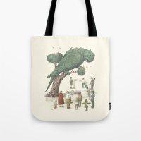The Night Gardener - Parrot Topiary  Tote Bag