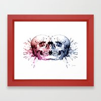Conjoined Skull Framed Art Print
