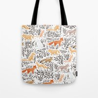 Foxes Field Guide Tote Bag