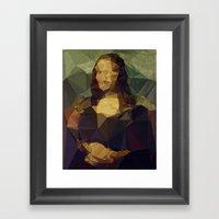 Creased Lisa Framed Art Print