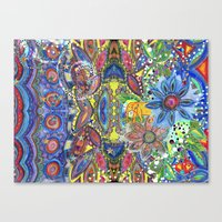 Abstract Intense Bright Canvas Print